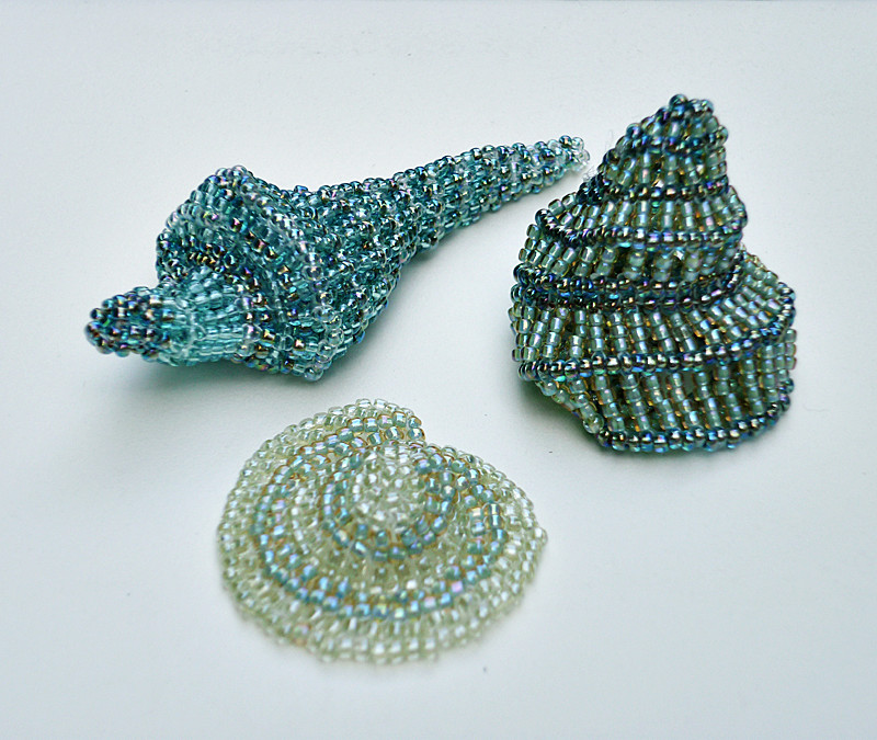 Beaded shapes: shell-inspired