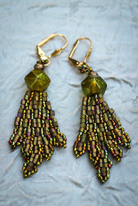 Chartreuse Earrings Create A Vintage Look and Feel