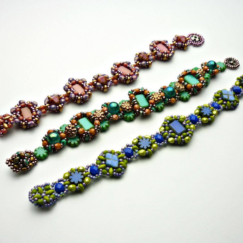 Beadwork Designs Using Two-hole Beads