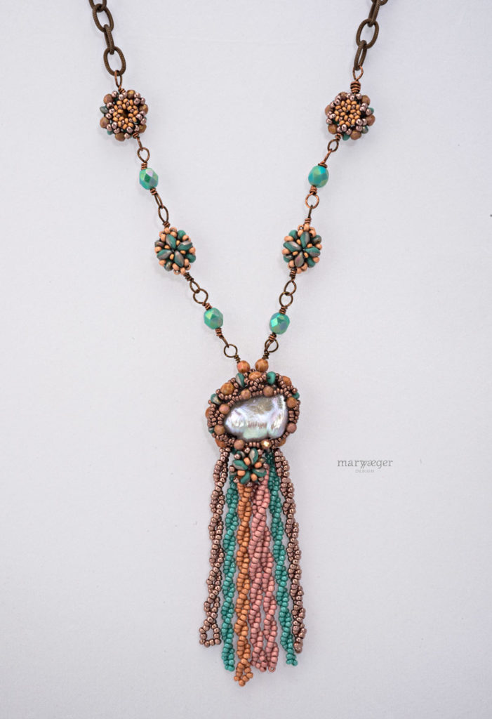 Baroque Southwest Tassel Necklace