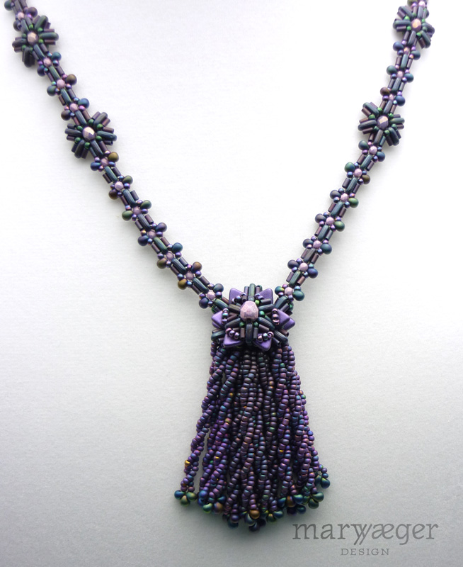 Plush Necklace in purple